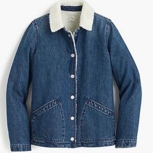 Women's denim Sherpa lined jacket